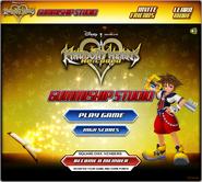 Kingdom Hearts ReCoded Gummiship Studio Hauptmenü