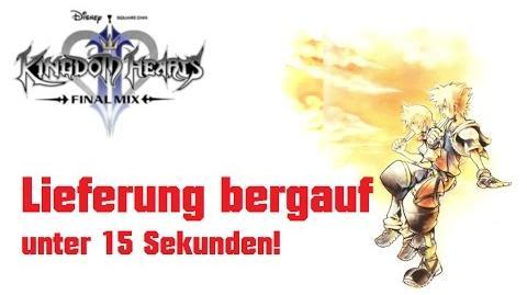 """Kingdom Hearts 2 Final Mix Mini-Spiel """"Lieferung bergauf"""" unter 15 Sekunden"""