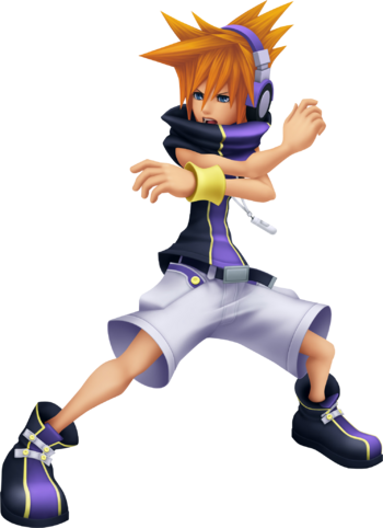Neku in Kingdom Hearts 3D: Dream Drop Distance