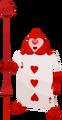 Herz Kartensoldat (Herz Drei) KHx