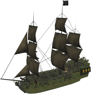 Die Black Pearl in Kingdom Hearts II