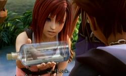 Kairi übergibt den Brief von Micky KHII
