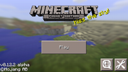 Minecraft on mobile - Main Menu