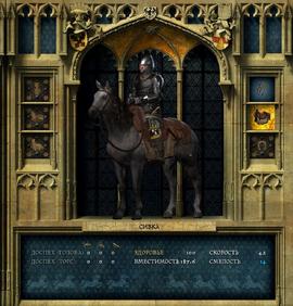 Снаряжение лошади (интерфейс)