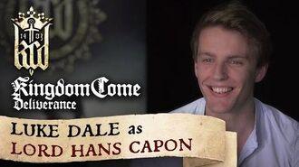 Kingdom Come Deliverance presents Luke Dale as Lord Hans Capon