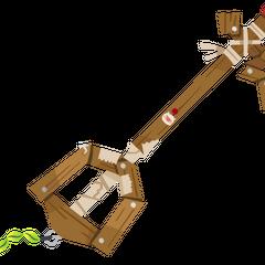 Llave Espada de madera creada por un Moguri en <i>Kingdom Hearts χ</i>.