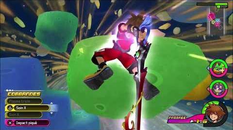 Kingdom Hearts 3D Dream Drop Distance HD Portails secrets - Combat contre Pélisort