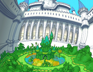 Disney Castle- Courtyard (Art) KH