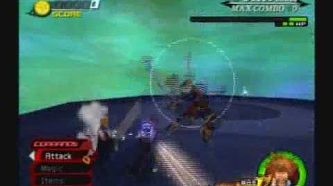 Kingdom Hearts II - Sora vs Cloud, Tifa, Yuffie and Leon