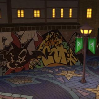 Plaza de la fuente en <i>Kingdom Hearts Dream Drop Distance</i>