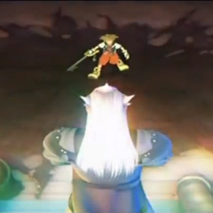 Sora contra Ansem en el opening de KH 2
