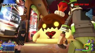 Kingdom Hearts III Mini-jeu Flan à la fraise