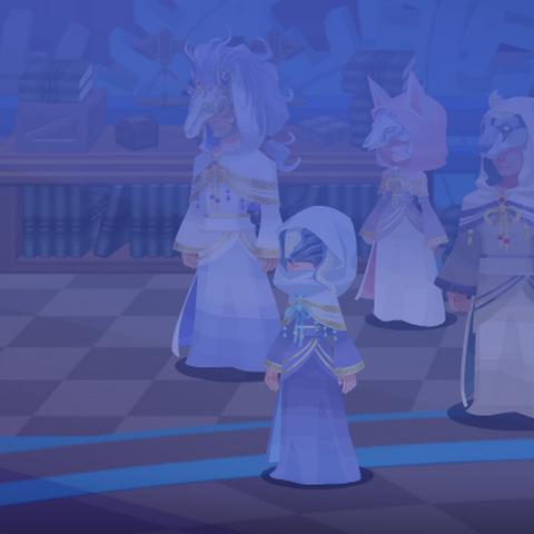 Desconocido (Maestro de Maestros) y los cinco Profetas en el sueño del Jugador