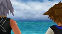 Sora y Riku de espaldas