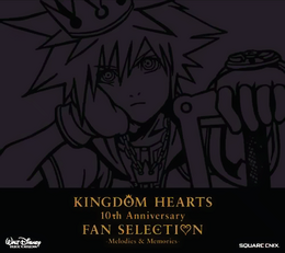 Kingdom Hearts 10th Anniversary Fan Selection -Melodies & Memories- Portada