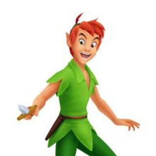 Peter Pan volando con su <a href=