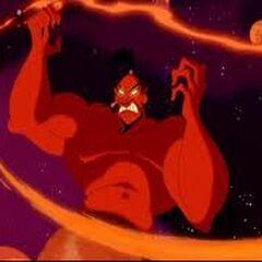 Yafar (Genio) en la película de Disney