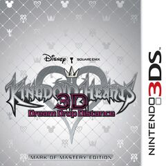 Carátula de la caja de KH:3D <i>Mark of Mastery Edition</i>