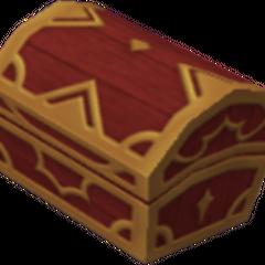 Un cofre rojo que aparece en Islas del Destino y Monstruo