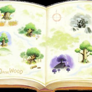 El libro abierto en <i>Kingdom Hearts II</i>