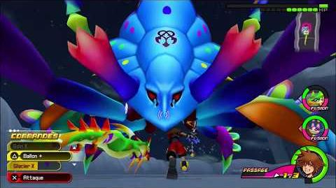 Kingdom Hearts 3D Dream Drop Distance HD Portails secrets - Combat contre Grimard algide