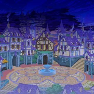 Artwork de la ciudad acechada por la Oscuridad