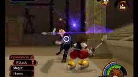 Kingdom Hearts Cloud vs Sora