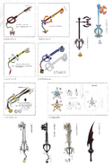 Weapons from KH1 concept art 1
