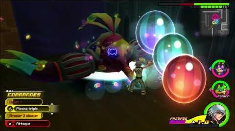 Kingdom Hearts 3D Dream Drop Distance HD Portails secrets - Combat contre Tiptaupe