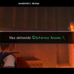 Sora obteniendo el primer Informe Ansem.