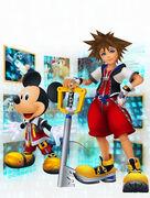 Mickey and Sora- Kingdom Hearts Recoded