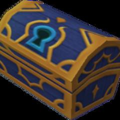 Un cofre azul que aparece en Islas del Destino y Monstruo