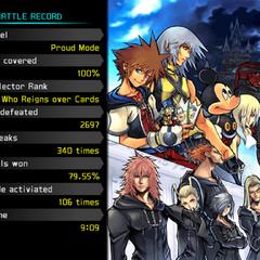 The End en la Historia de Sora Modo Experto con el 100% del Informe-D completado.