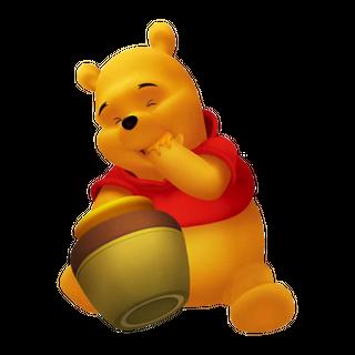 Winnie the Pooh consumiendo Miel desde un tarro