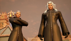 Ansem and Xemnas observe the heroes KH III