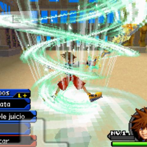 Sora Digital creando un remolino de viento a su alrededor con Ciclón.