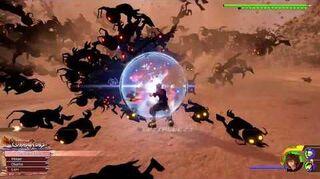 Kingdom Hearts III Critique Combat contre la Marée démoniaque 2
