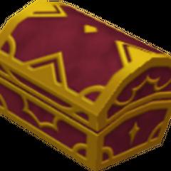 Un cofre rojo que aparece en Agrabah
