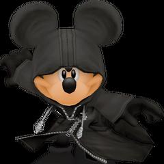 El Rey Mickey bajo la capucha de la Org. XIII.