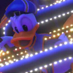 Donald en el gameplay de <a href=