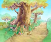 100 Acre Wood- Pooh's House (Art) KH