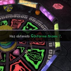 Sora obteniendo el septimo Informe Ansem.