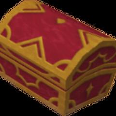 Un cofre rojo que aparece en Coliseo del Olimpo