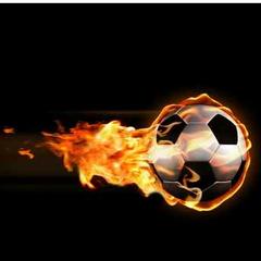 Balón en llamas.