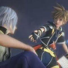 Sora y Riku en el video final de kingdom hearts II