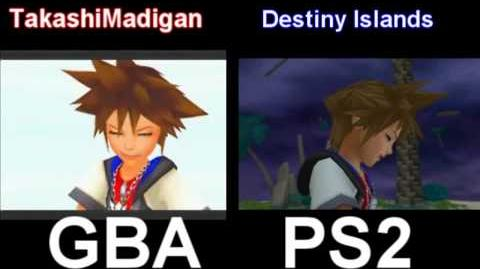 Kingdom Hearts Chain of Memories Cutscene Comparison