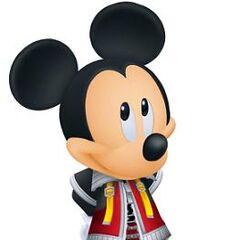 El Rey Mickey sonriendo.