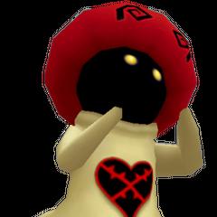 Seta Blanca indicando al jugador que use el hechizo Hielo