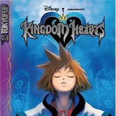 Cubierta del volumen 1 del manga de <i>Kingdom Hearts</i>
