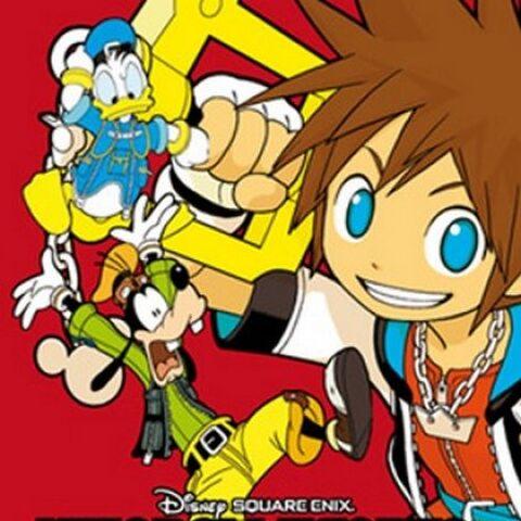 Cubierta española del volumen 1 del manga de <i>Kingdom Hearts: Chain of Memories</i>